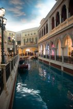 a view of the river within the shopping centre at the venetian in macau
