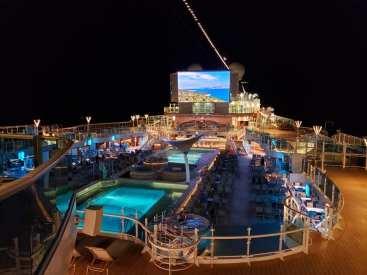 Panoramic View of the Main Pool area on Sky Princess Cruise Line