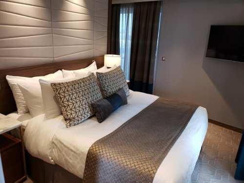 Bedroom Sky Suite on Sky Princess Cruises