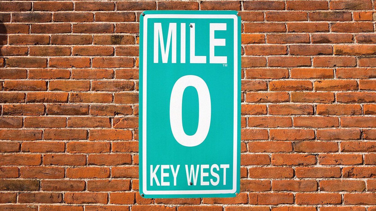 south beach to key west mile 0