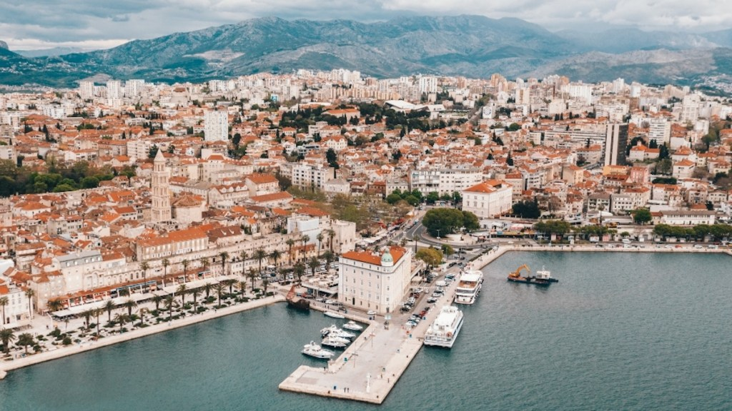 Split Croatia in the Adriatic sea