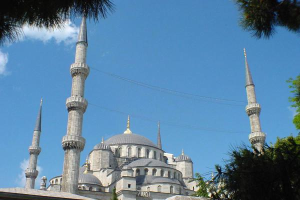 Image of Blue Mosque from a distance, Istanbul, Istanbul, Turkey