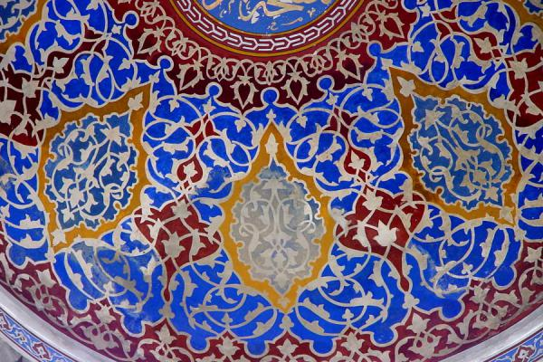 Image of Decorations inside Blue Mosque, Istanbul, Istanbul, Turkey