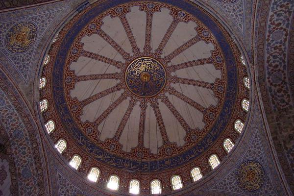 Image of Main dome from below, Blue Mosque, Istanbul, Istanbul, Turkey