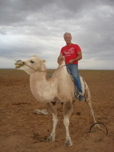 Jerry on a Mongolian camel