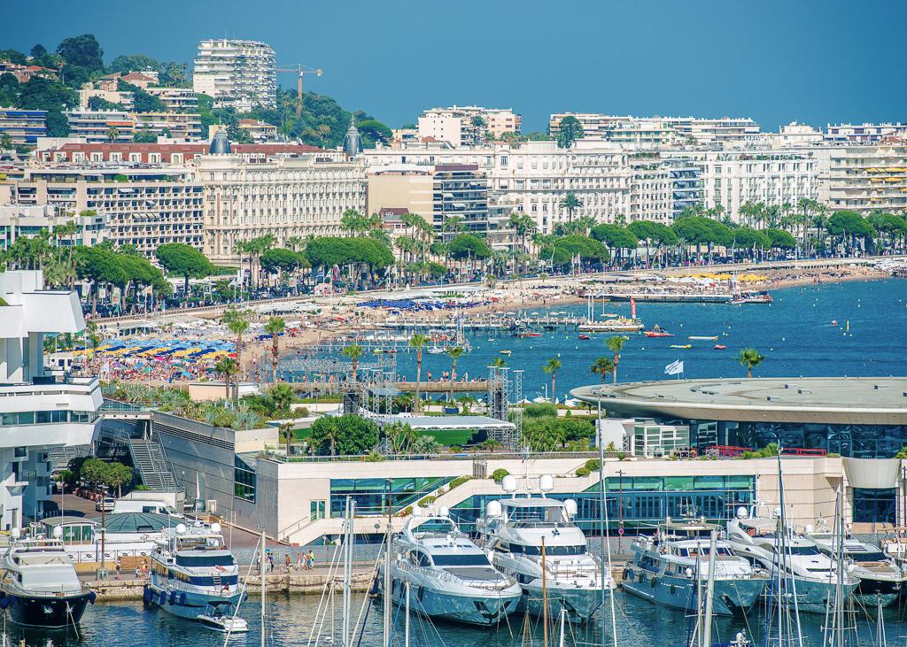 Marina and Beach Cannes, Cote d'Azur, France