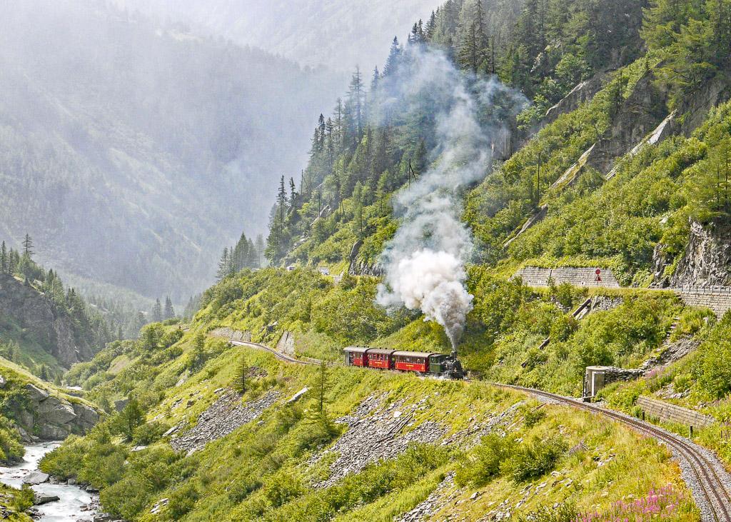 train in nature, switzerland