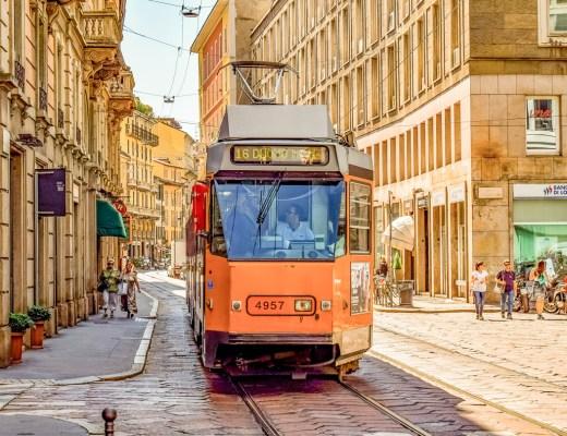 Tram, Duomo, Milan, Italy