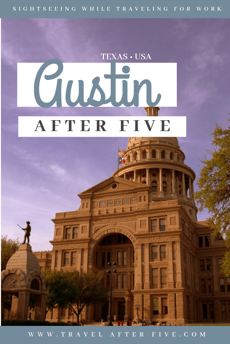 Austin is a quirky city with plenty to do after work. Take a stroll down South Congress, and check out the musicians and food trucks. See the bridge bats fly out at night. Visit Broken Spoke where you can two-step. Visit the pools or play frisbee at Zilker Park. If you\'re in for Austin nightlife, visit 6th street in Austin\'s downtown.