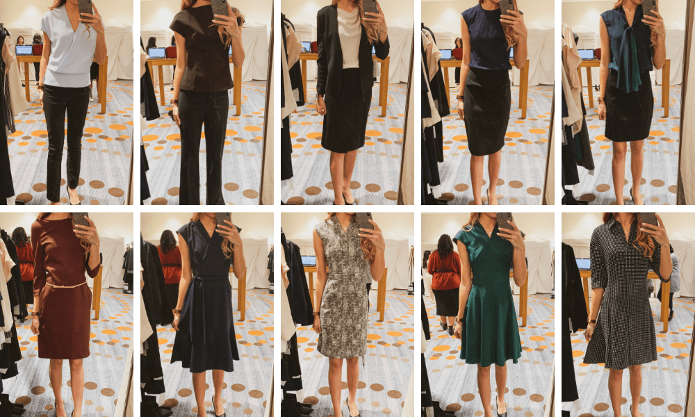 MMLaFleur Pop-up Showroom Review - Grid of 10 outfits