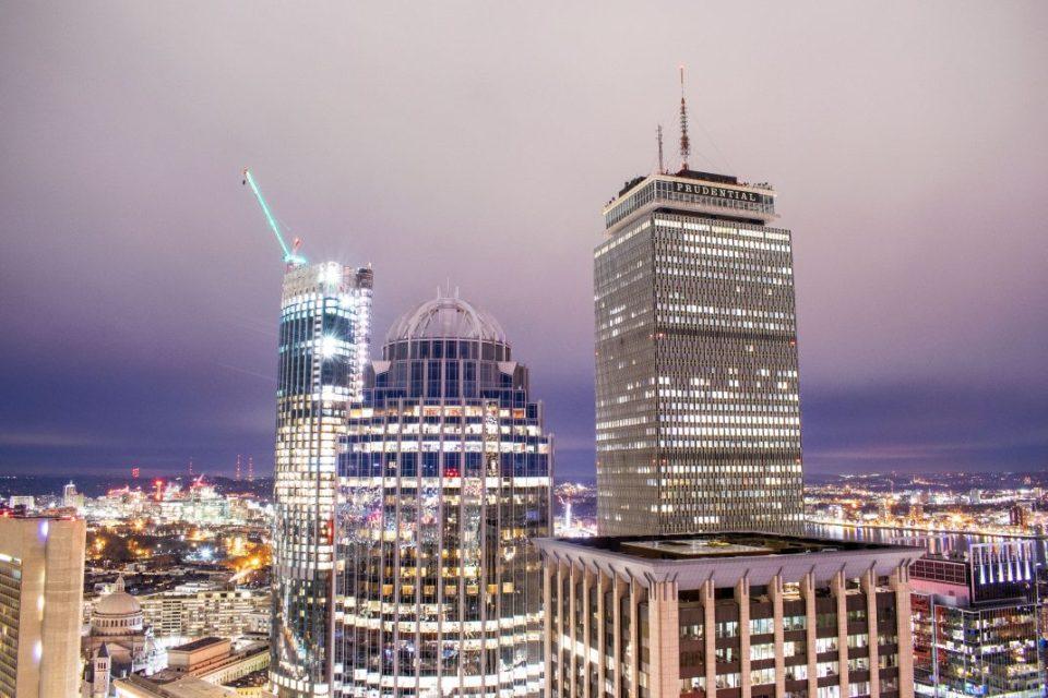 Boston Prudential Center Evening
