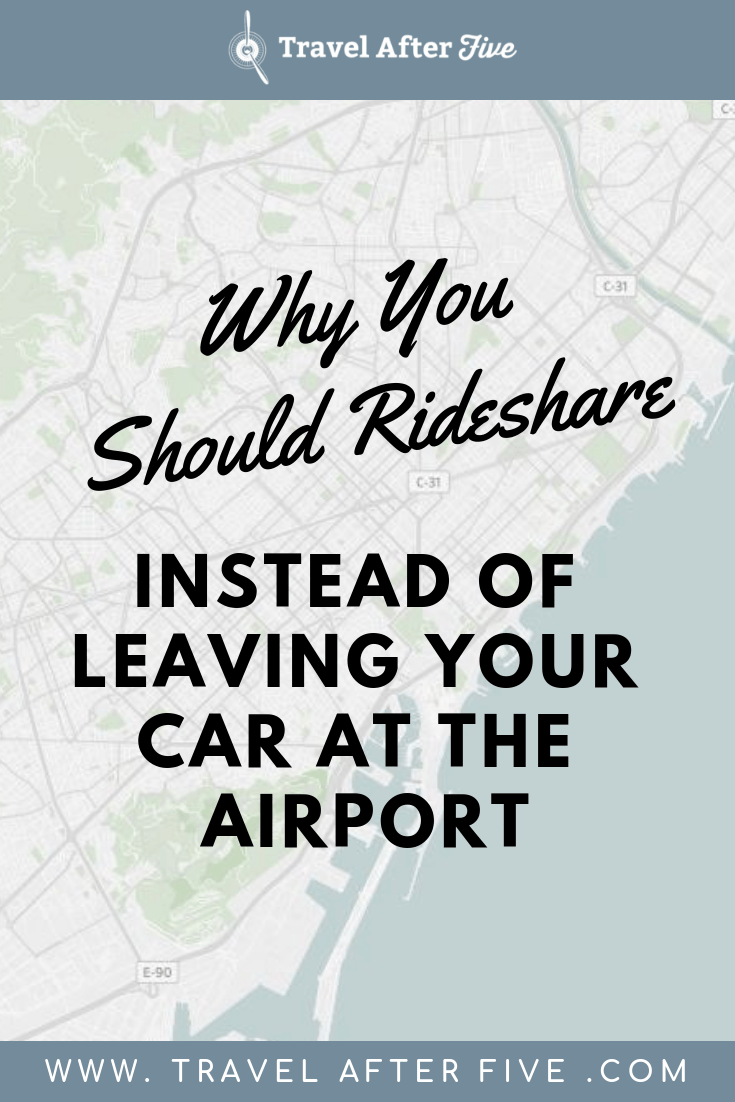 When traveling for work, your first instinct may be to drive your car and leave it at the airport. However, there are benefits to using rideshare instead. It saves you money, it saves you time, and most apps will even let you schedule a ride to the airport, so you don\'t need to worry about whether a not there will be cars on the road.