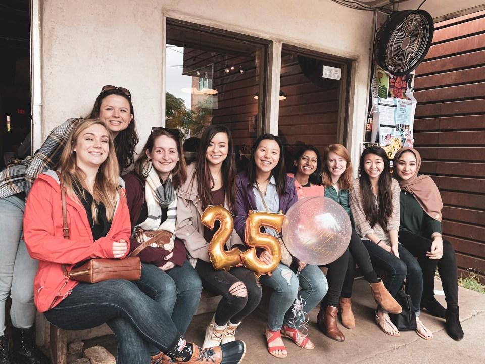 Austin Group Trip Itinerary | Brunch at Blue Dahlias