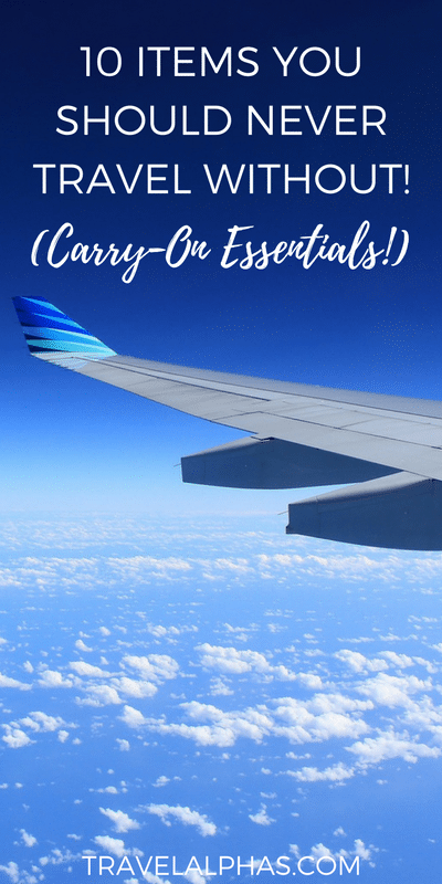 Long-haul flights can be rough -- there's no doubt about that! However, there are a few carry-on items you should always pack, to make sure your flight is both relaxing and enjoyable. Here are ten carry-on essentials that you should never travel without!