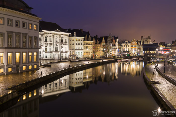 Ghent, Bélgica à noite
