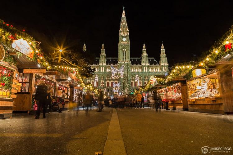 Rathaus no Natal em Viena