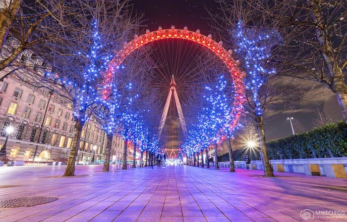 London Eye à noite