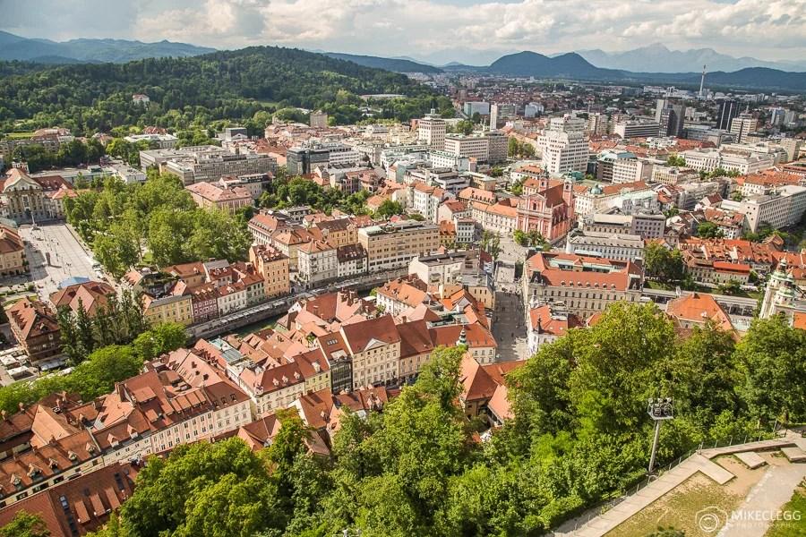 Vistas do Castelo de Liubliana