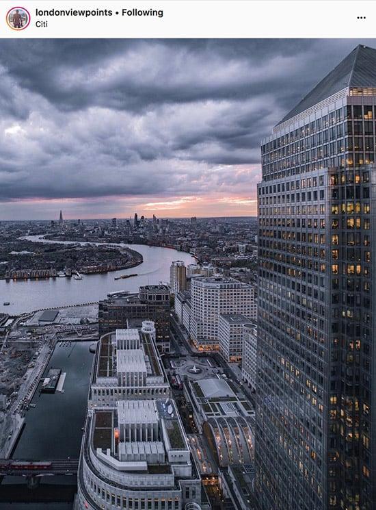 Fotógrafos do Instagram de Londres - @londonviewpoints