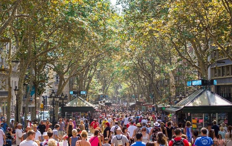 Ruas de compras em Barcelona
