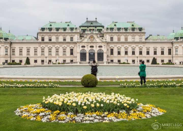 The Belvedere in Vienna in the Spring