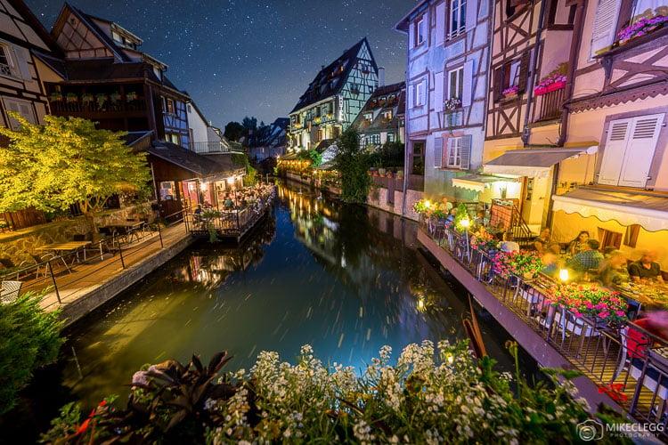 Colmar e Canals à noite