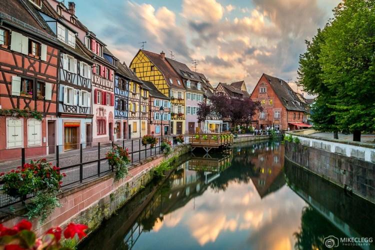 Colmar, França ao pôr do sol