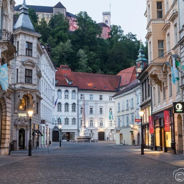Streets of Ljubljana in the mornings