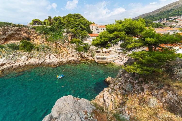Praias e enseadas em Dubrovnik