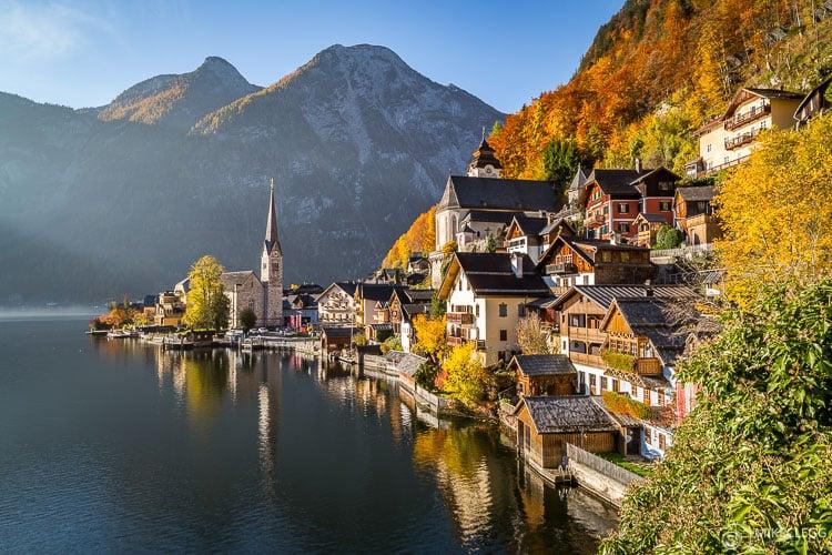 Hallstatt no outono, Áustria