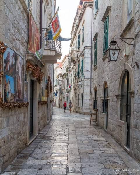 Ruas da cidade velha de Dubrovnik