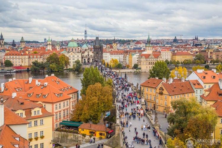 Vista da Torre da Ponte de Lesser Town, Praga