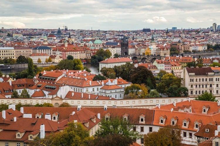 Vista das muralhas do Castelo de Praga