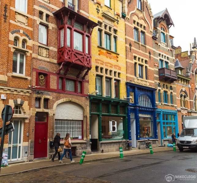 Ruas antigas em Ghent