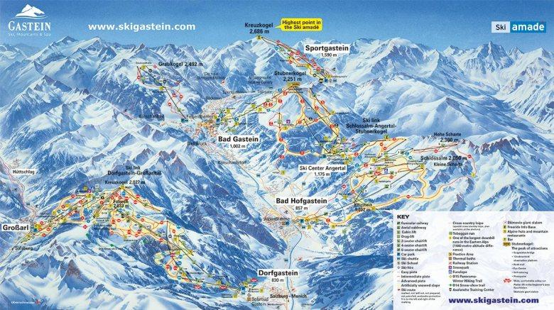 Gastein ski map