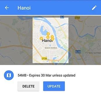 Baixe mapas off-line no Google