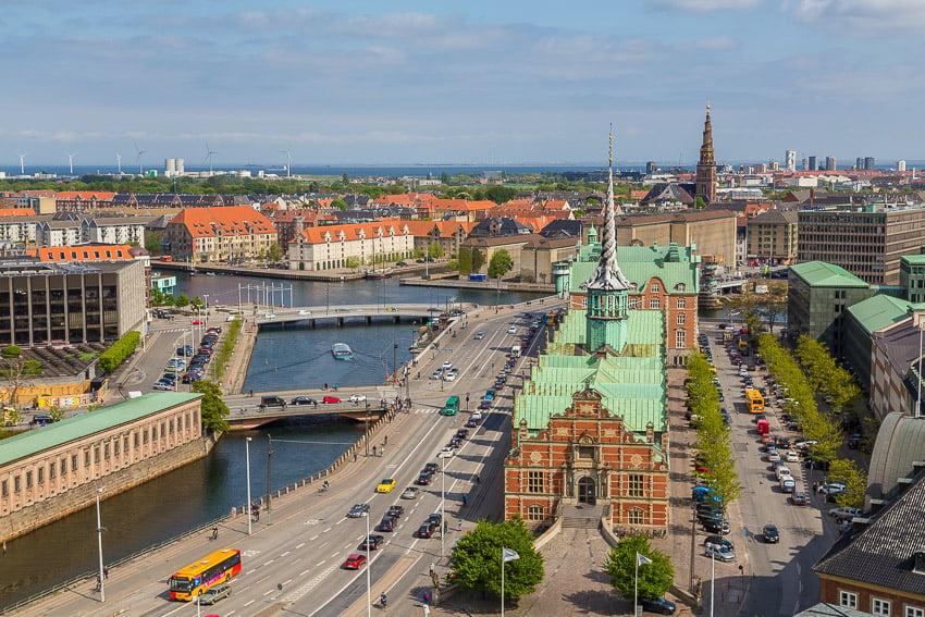 Vista da Torre (Taarnet) em Copenhague