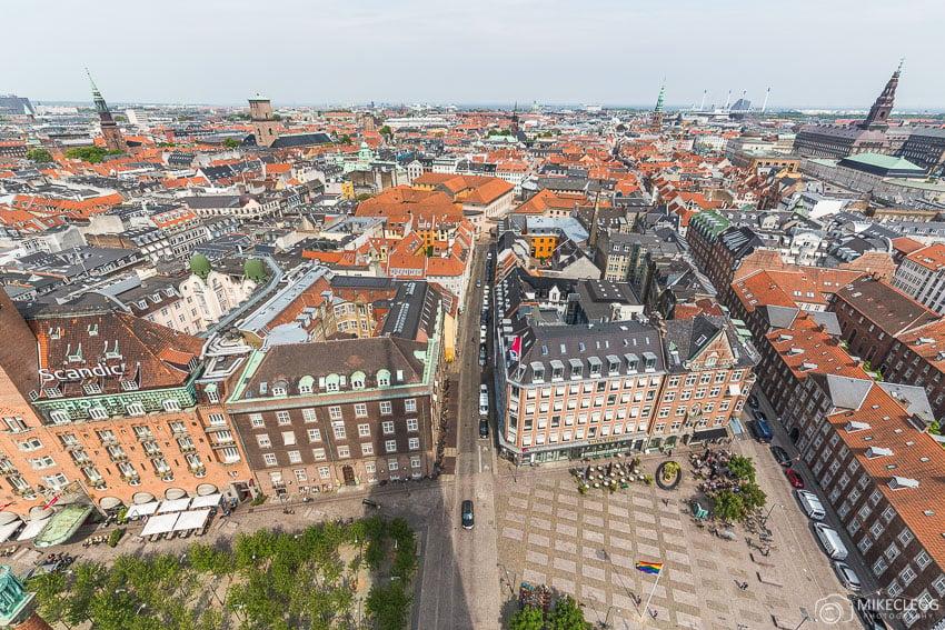 Vistas de Copenhague da Torre da Prefeitura