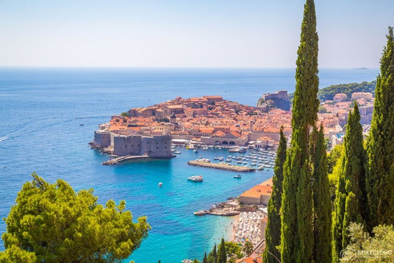 Vistas de Dubrovnik durante o verão