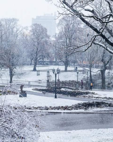 Parque Bastejkalna no inverno