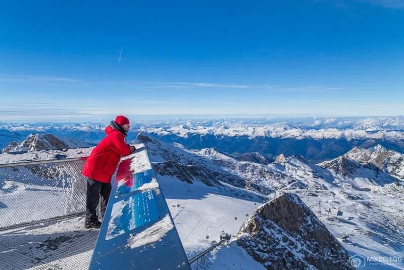 Vista da geleira Kitzsteinhorn, Kaprun, Áustria