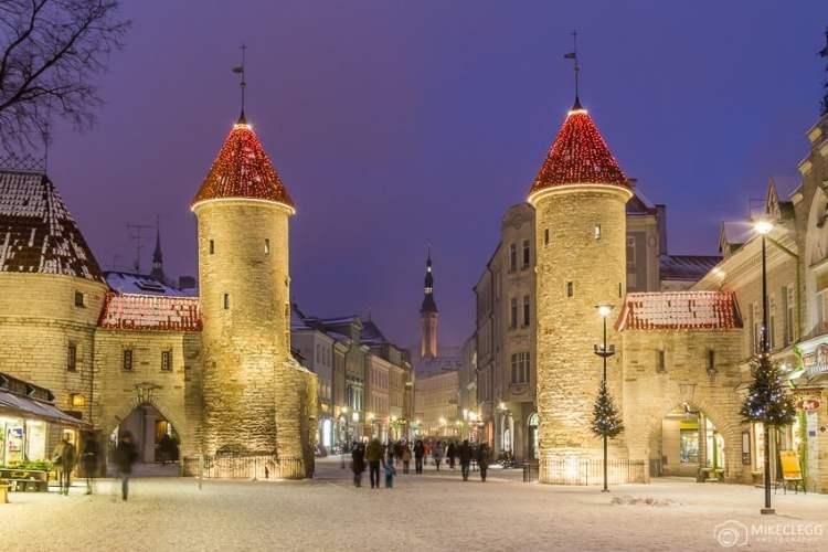 Rua Viru, Tallinn no Natal