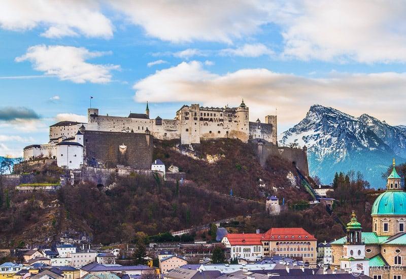 Castelo Hohensalzburg em Salzburgo