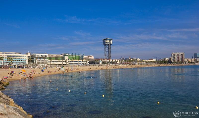 Praia de Barceloneta durante o dia
