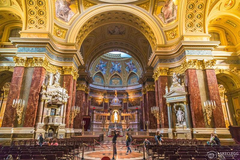 Interior da Basílica de Santo Estêvão, Budapeste