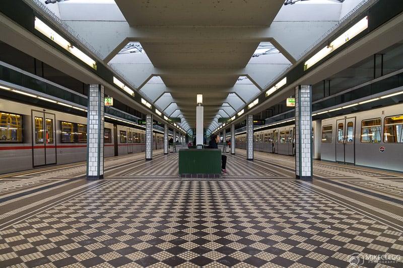 Estação de metrô em Viena