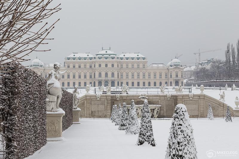 Cenas de inverno em Belvedere, Viena