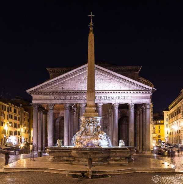 Panteão à noite, Roma