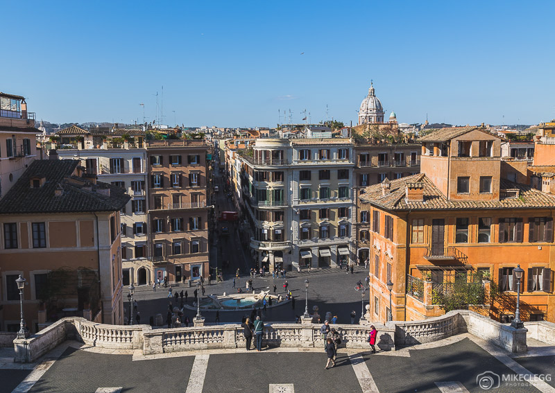 Vista do alto da Escadaria Espanhola, Roma