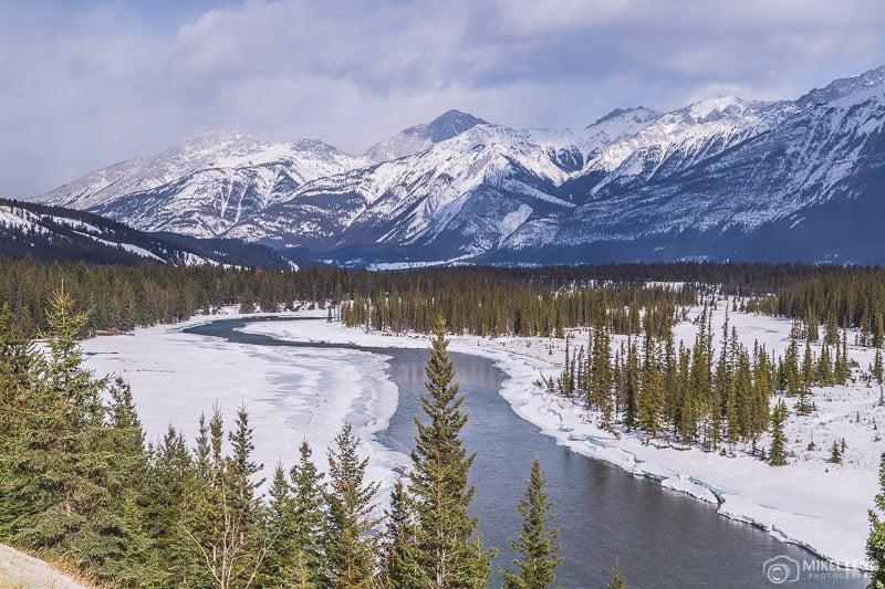 Paisagens no Parque Nacional Jasper, Alberta
